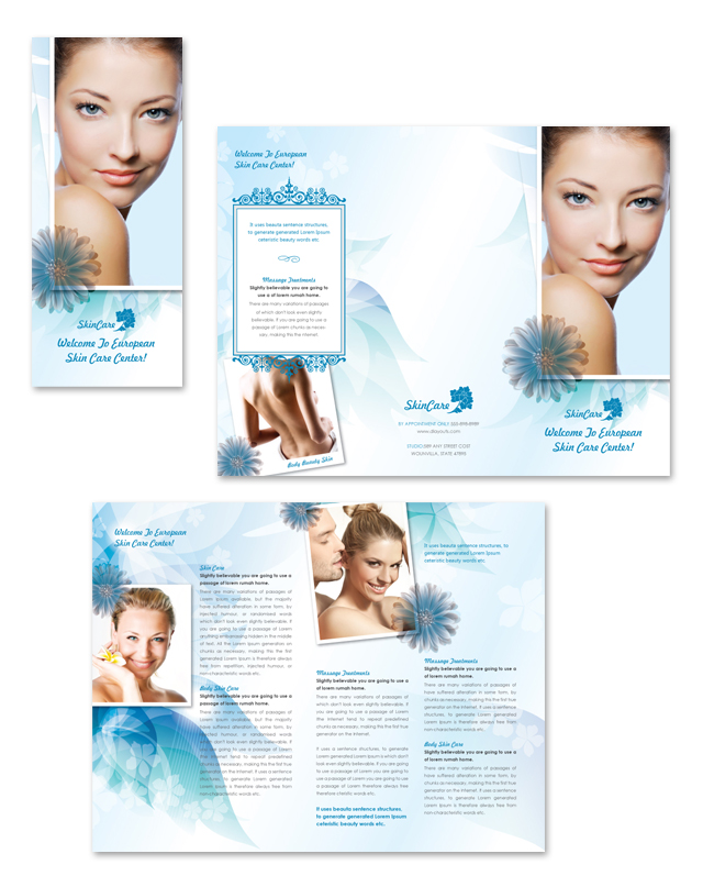 Skincare Center Tri Fold Brochure Template