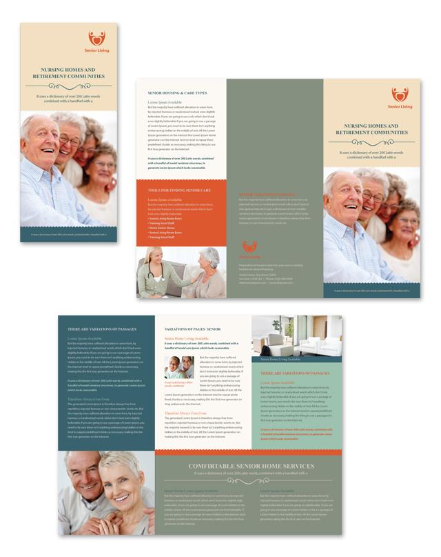 Senior Housing Tri Fold Brochure Template