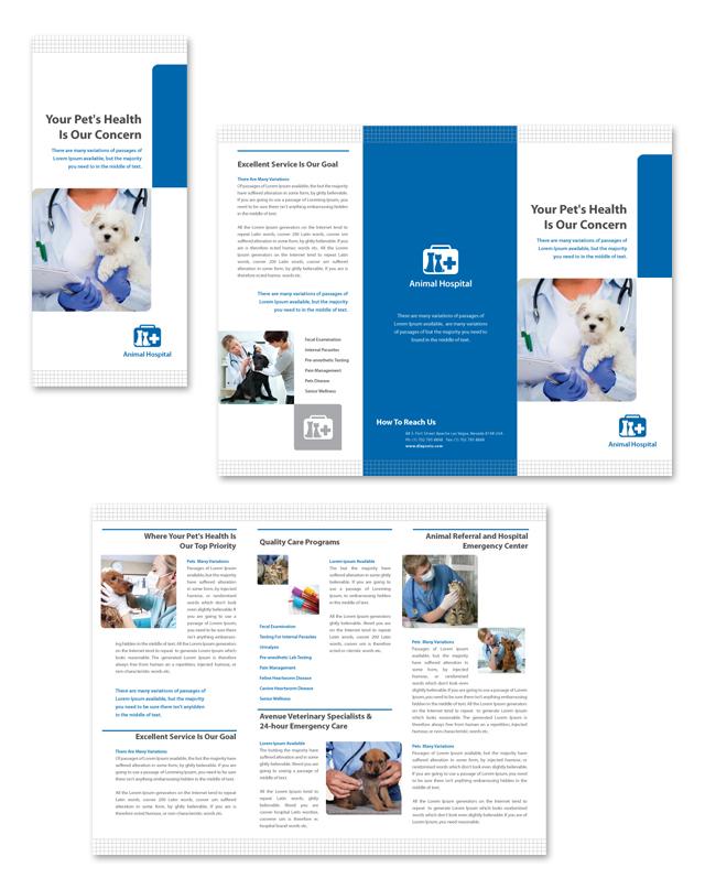 Veterinarians Tri Fold Brochure Template