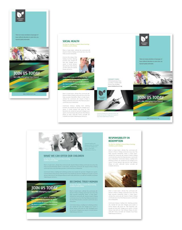 Christian Community Tri Fold Brochure Template
