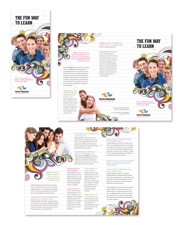 Youth Education Program Tri Fold Brochure Template