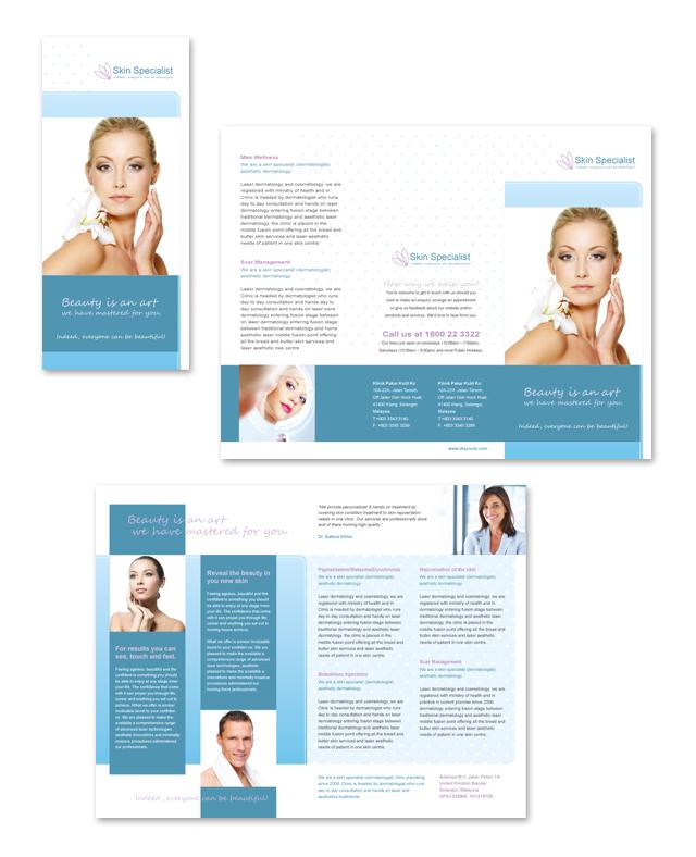 Skin Specialist Centre Tri Fold Brochure Template