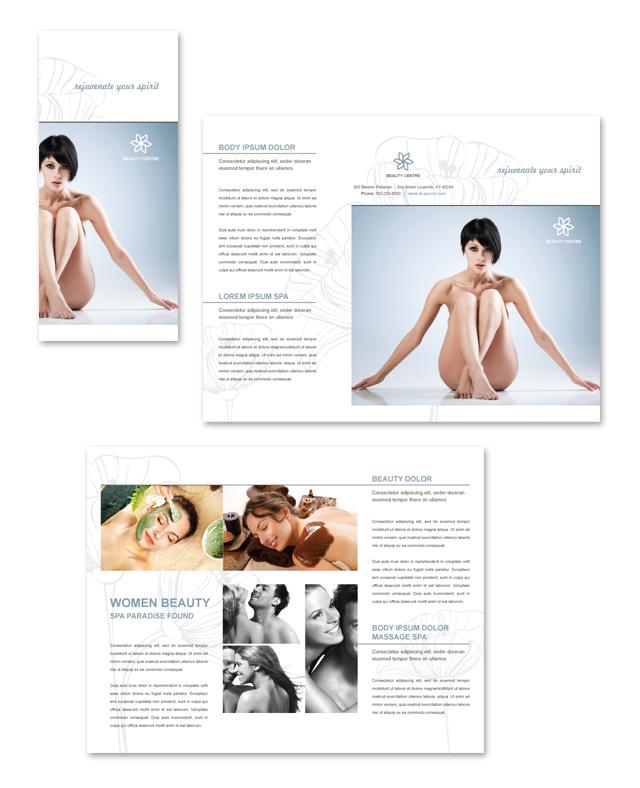 Beauty Salon Tri Fold Brochure Template