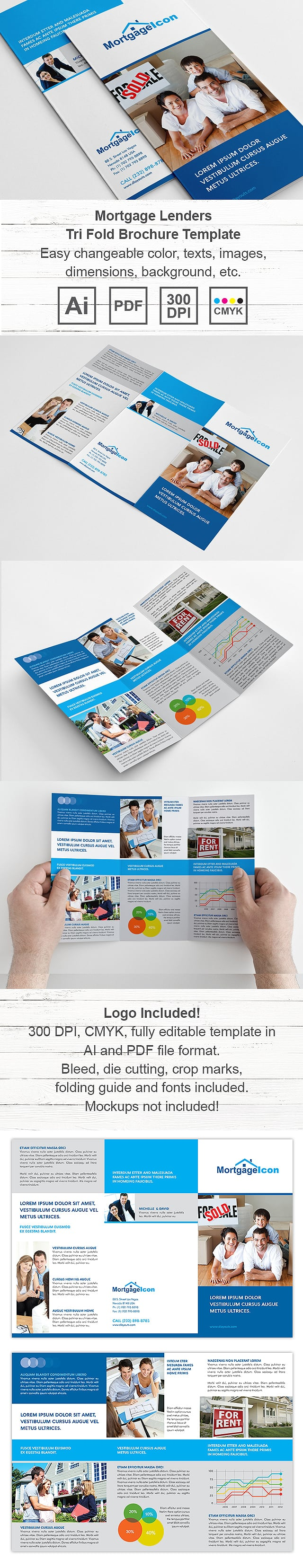 Mortgage Lenders Tri Fold Brochure Template