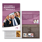 CPA & Tax Accountant Brochure Template