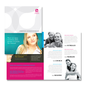 Church Outreach Brochure Template