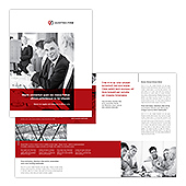 Auditing Firm Half Fold Brochure Template