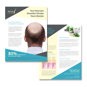 Hair Loss Center Datasheet Template