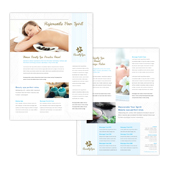 Beauty Spa Salon Datasheet Template