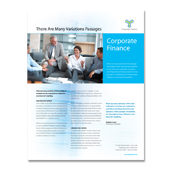 Corporate Finance Flyer Template
