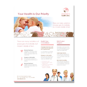 Gynecology Clinic Flyer Template