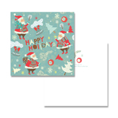 Warn Santa Claus Greeting Card Template