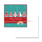 Snow Christmas Tree Greeting Card Template