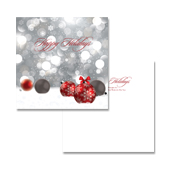 Ornament Balls Greeting Card Template