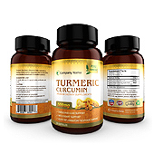Turmeric Curcumin Supplement Label Template
