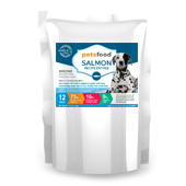 Fresh Salmon Dog Food Label Template