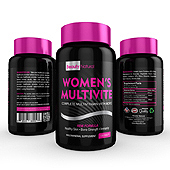 Women's Multi Vitamin Supplement Label Template
