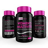 Women's Multi Vitamin Supplement Label Template