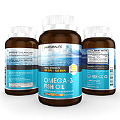 Omega-3 Fish Oil Lemon Flavor Supplement Label Template