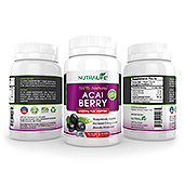 Acai Berry Extract Supplement Label Template
