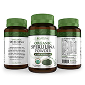 Organic Spirulina Powder Label Template