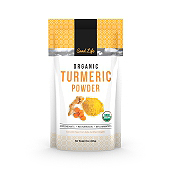 Organic Turmeric Curcumin Powder Label Template