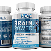 Brain Booster Supplement Label Template