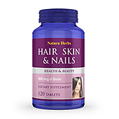 Hair Skin & Nails Supplement Label Template
