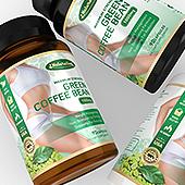 Green Coffee Bean Supplement Label Template