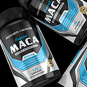 Maca Root Supplement Label Template