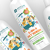 Pet Wash Shampoo Label Template