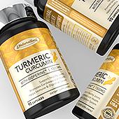 Turmeric Curcumin with Bioperine Supplement Label Template