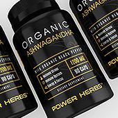 Organic Ashwagandha Supplement Label Template
