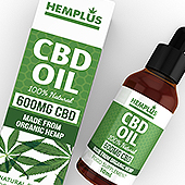 CBD Hemp Oil Drops Packaging & Label Template