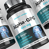 Alpha GPC Choline Supplement Label Template
