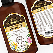 Botanical Herbs Shampoo Label Template
