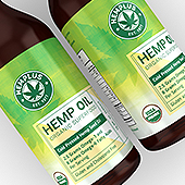 CBD Hemp Oil Label Template