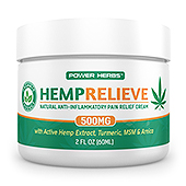 Hemp Pain Relief Cream Label Template