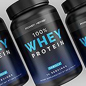 Whey Protein Vanilla Supplement Label Template