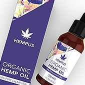 Organic Hemp Oil Drops Packaging & Label Template