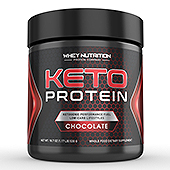 KETO Protein Chocolate Powder Supplement Label Template