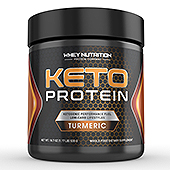 KETO Protein Turmeric Powder Supplement Label Template