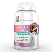 Hair, Skin and Nails Supplement Label Template
