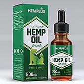 Pets Hemp Oil Supplement Label Template