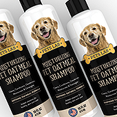 Pet Oatmeal Shampoo Label Template
