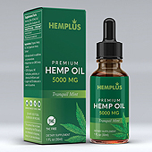 Hemp Oil Supplement Label and Box Template
