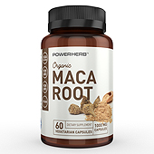 Organic Maca Root Supplement Label Template
