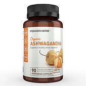 Organic Ashwagandha Supplement Label Template