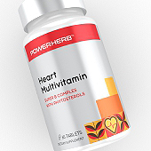 Heart Multivitamin Supplement Label Template