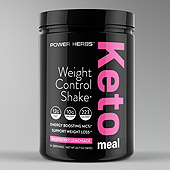 Keto Meal Powder Supplement Label Template